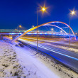 Foothpath bridge over bypass of Gdansk — Stock Photo #41485061