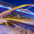 Foothpath bridge over bypass of Gdansk — Stock Photo #41485145