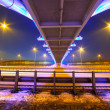 Foothpath bridge over bypass of Gdansk — Stock Photo #41485229