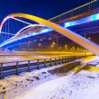 Stock Photo: Foothpath bridge over bypass of Gdansk