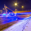 Foothpath bridge over bypass of Gdansk — Stock Photo #41485355