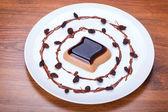 Coffee panna cotta dessert — Stockfoto