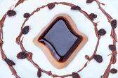 Coffee panna cotta dessert — Stock Photo