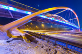 Foothpath bridge over bypass of Gdansk — Foto Stock