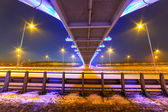 Foothpath bridge over bypass of Gdansk — Stock Photo