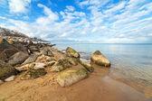 Tranquilo paisaje del mar báltico en invierno — Foto de Stock