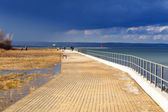 Promenade at Baltic Sea in Gdansk — Stock Photo