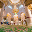 Interior of Sheikh Zayed Grand Mosque in Abu Dhabi — Stock Photo #44934595