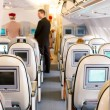 Business class seats in airplane — Stock Photo #44934945