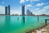 Panorama of Abu Dhabi, UAE — Stock Photo