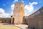 Old tower in the Abu Dhabi marina — Stock Photo