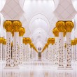 Columns of Grand Mosque in Abu Dhabi — Stock Photo #45361225