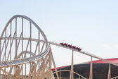 Roller coaster at Ferrari World in Abu Dhabi — Foto Stock