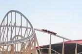 Roller coaster at Ferrari World in Abu Dhabi — Foto Stock