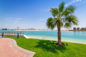 Beach at the Persian Gulf in Abu Dhabi — Stock Photo