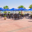 Restaurant at the sea in Abu Dhabi — Stock Photo #46666255