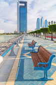 Promenade at Persian Gulf in Abu Dhabi — Stock Photo
