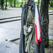 Second world war outfit at the historic Westerplatte peninsula — Stock Photo #47383917