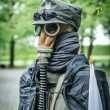 Second world war outfit at the historic Westerplatte peninsula — Stock Photo #47384057