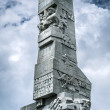 Westerplatte Monument in memory of the Polish defenders — Stock Photo #47384061