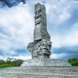 Westerplatte Monument in memory of the Polish defenders — Stock Photo #47384063