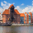 Постер, плакат: Medieval port crane over Motlawa river in Gdansk