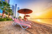 Sunrise on the beach at Perian Gulf — Stock Photo