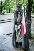 Second world war outfit at the historic Westerplatte peninsula — Stok fotoğraf