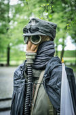 Second world war outfit at the historic Westerplatte peninsula — Zdjęcie stockowe