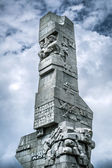 Westerplatte Monument in memory of the Polish defenders — Stock Photo
