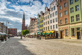 The Long Lane in old town of Gdansk — Stock Photo