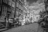 Architecture of Mariacka street in Gdansk — Stock Photo