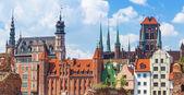 архитектура старого города в гданьске — Стоковое фото