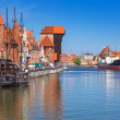 Постер, плакат: The medieval port crane over Motlawa river Gdansk
