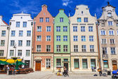 Architecture of the Long Lane in Gdansk — Stock Photo