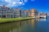 Old town of Gdansk at Motlawa river in Gdansk — Stock Photo