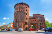 15th century fortification tower and gate to the old town of Gdansk — Stock Photo