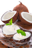 Coconut ice creams — Stock Photo