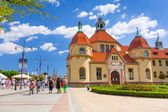 Rchitecture of Sopot at the Molo in Poland — Stock Photo
