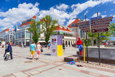 Square at the Heroes of Monte Cassino in Sopot — Stock Photo