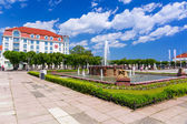 Architecture of Sopot at the Molo in Poland — Stock Photo