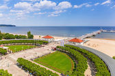 Scenery of Sopot molo at Baltic Sea in Poland — Stock Photo