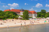 People on the beach of Sopot — Stock Photo