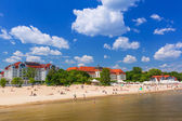 People on the beach of Sopot — Stock fotografie