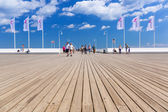 People on Sopot molo at Baltic Sea, Poland — Stock fotografie