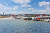 Sopot molo at Baltic Sea, Poland — Stock Photo