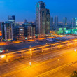 Cars on Sheikh Zayed Road in Dubai — Stock Photo #48639723