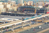 Metro line in Dubai — Stock Photo
