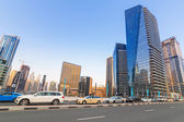 Traffic on the streets of Dubai Marina — Stock Photo