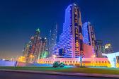 Skyscrapers of Dubai Marina at night — Stock Photo